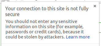 How to fix: Your connection to this site is not fully secure